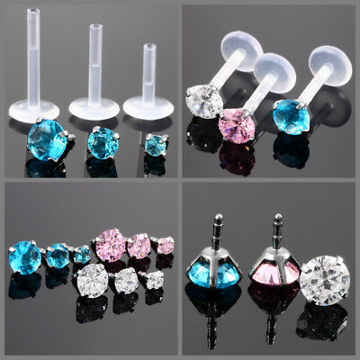 1PC 16G Stainless Steel Monroe Lip Rings Nose Studs Body Jewelry Earring Studs