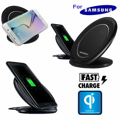 Qi Wireless Fast Charger Charging Pad Stand Dock for Samsung Galaxy S8 S7 Edge