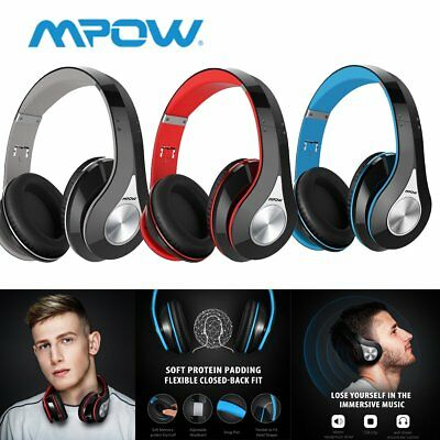 Mpow 059 Bluetooth 4.1 Headphone Hi-Fi Wireless Stereo Mic Foldable Headset US