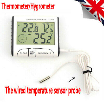 Room Thermometer Hygrometer Max Min Temperature Humidity Indoor Outdoor RLTS