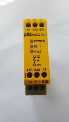 PILZ 774306 Safety Relay PNOZX2.1 24VAC/DC 2N/O (R3S10.7B2)