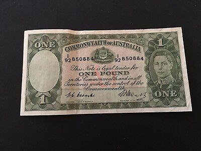 1pound  Coombs/Watt 1949, VF/gVF  nice  banknote!!!