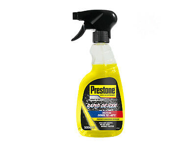 Prestone 500ml Fast Rapid Acting Windscreen De-Icer Frost Ice Trigger Spray
