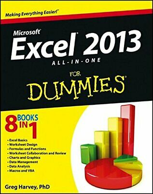 Excel 2013 All-In-One for Dummies by Harvey, Greg 1118510100 The Fast Free