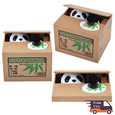 Coin Stealing Box China Panda Saving Box Adorable Kid Coin Bank Money Collection
