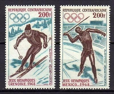A662) CENTRAL AFRICAN R.1968 Scott #C54/C55 MNH** Olympic Games 2v