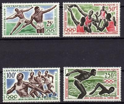 A667) CENTRAL AFRICAN R.1964 Scott #20/23 MNH** Olympic Games 4v