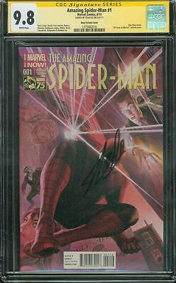 Amazing Spider Man 1 CGC SS 9.8 Stan Lee Signed Alex Ross Variant Cover