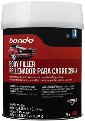 1gal Bondo 265 Lightweight Body Filler Can For Car Vehicle Hole Dent Leak Repair