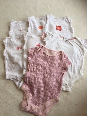 Baby Girls Clothes Bundle 0-3 Months - Girl Vest Tops Bodysuits Babygrows
