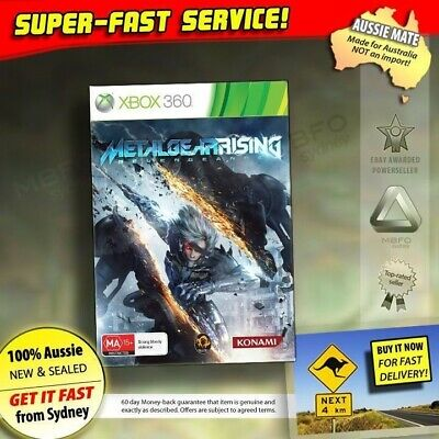 Metal Gear Rising Revengeance Xbox 360 (NEW, SEALED, AUSSIE!) Console Solid Game