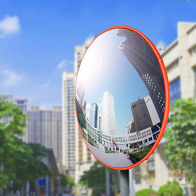 "12"" Wide Angle Convex PC Mirror Wall Mount Corner Blind Spot Security & Safety"