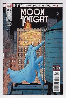 Moon Knight #188 - Legacy Main Cover (Marvel, 2017) - New/Unread (NM)