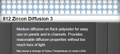 """Lee Filters 812S Zircon Diffusion 3 LED Lighting Gel Sheet 24"""" x 24"""""""