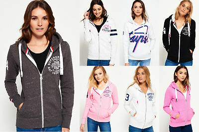 New Womens Superdry Hoodies Selection 1 - Various Styles & Colours 0711