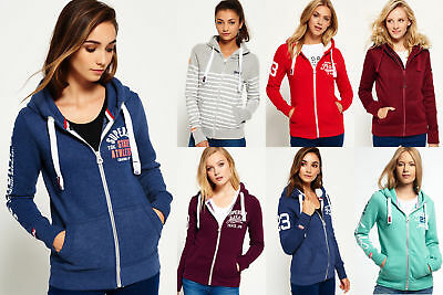 New Womens Superdry Hoodies Selection 2 - Various Styles & Colours 0711