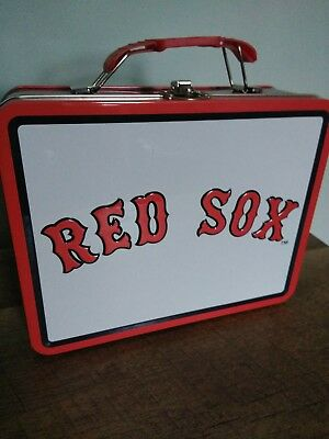 MLB Boston Red Sox Metal Tin Lunch Box NEW Toys Baseball Carrier Tote