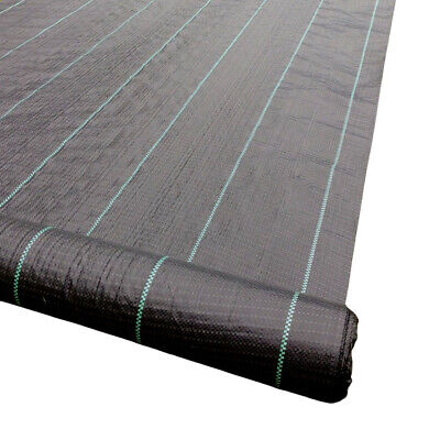 2m wide 100gsm Heavy Duty Weed Control Ground Cover Fabric Membrane Pegs