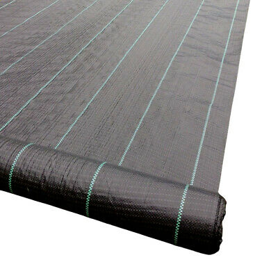 WITH PEGS 2m Wide HEAVY DUTY 100gsm Weed Control Fabric Ground Cover Membrane