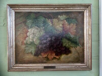 Original 1900s Signed G. HINDLEY Oil Painting on Canvas,Still Life,LISTED ARTIST