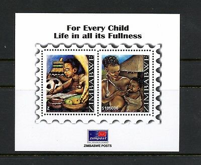 Zimbabwe 2007 #1063A  Life of Children Art  sheet  MNH  L307