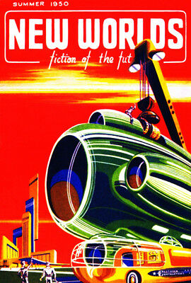 New World Fiction of the Future - Summer 1950 - Magazine Cover Poster