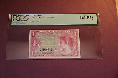 MPC $1 Series 641 PCGS Graded  Gem New 66 PPQ Uncirculated