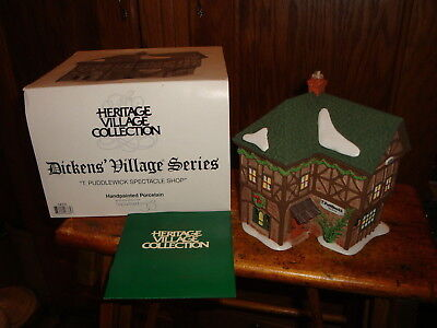 Dept 56 Dickens Village Series T. Puddlewick Spectacle Shop 1995 #58331 MIB