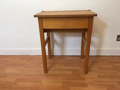 Vintage Lift Top School Desk 1960's 1970's Retro