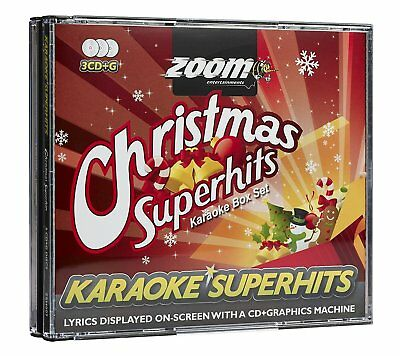 Zoom Karaoke CD+G - Christmas Superhits - Triple CD+G Xmas Karaoke Disc Pack