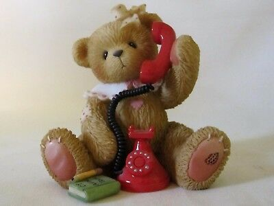 Cherished Teddies Doris I Just Called To Say I Love You Telephone Bear 797154