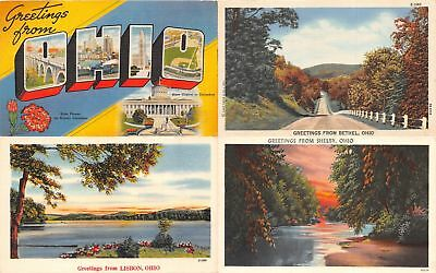 "Lot of 19 Vintage Cleveland, Ohio ""Greetings From"" Linen Postcards #106967 R"