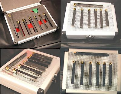 Set of 7 SCT Indexable Carbide Lathe Tools 10 mm Shank  (Ref: 888204 Myford Etc