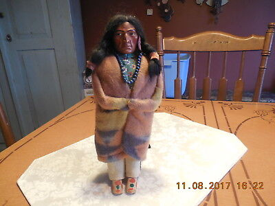 """1920/1930  Skookum 11""""  Male Indian Doll...with Original Tag"""