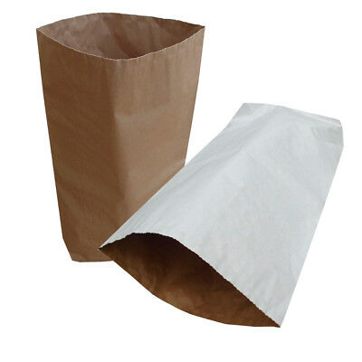 Yuzet White and Natural brown tan 3 ply paper sacks kraft food safe carrier
