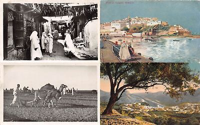 Lot of 16 Early to Mid-1900s Morocco Postcards 6 RPPC 2 Hand Colored #106022 R