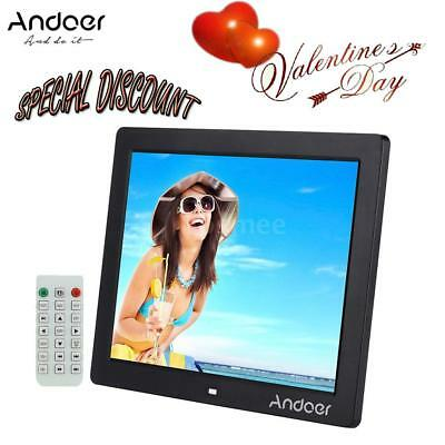 "Andoer 12"" HD Digital Photo Picture Frame Multimedia Player+Remote Control A4T7"