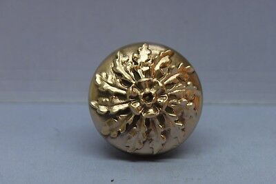 Antique Vintage Solid Brass Bronze Victorian Door Knob - Decorative - Restored
