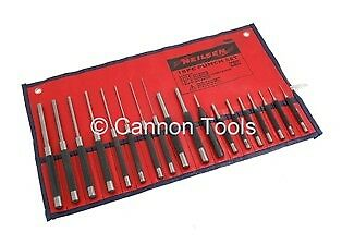 18 Piece Pin Punch Set with Automatic Centre Punch in Roll up Bag