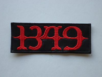 1349 Black Metal Embroidered Patch