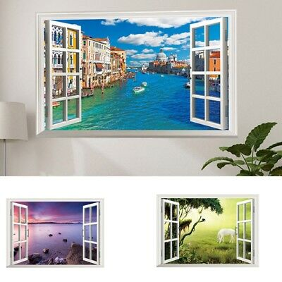 3D Wall Sticker Waterproof Mural Realistic Printing Decals Home Windows Decor