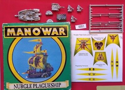 Nurlge Plagueship - Chaos Fleet - Man O War - Warhammer - Plague Ship with Box