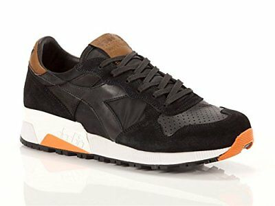 Diadora Trident 90 Nyl Mens Black Suede & Leather Lace Up Sneakers Shoes