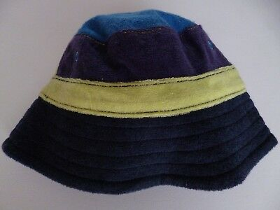Next baby boys sun hat blue green age 3 - 6 months NEW fishermans bucket sunhat
