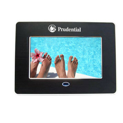 """7"""" LCD Digital Picture Frame Clock MP3/MP4 Player With Remote Controller, Black"""