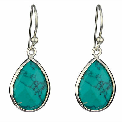 925 sterling Silver Turquoise gemstone earring fine jewelry 2.23g