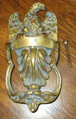 Vintage American Eagle Brass Door Knocker