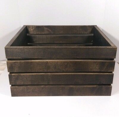 Large Rustic Jacobean Stained Wooden Crate Box Handmade Reclaimed - 15 Colors