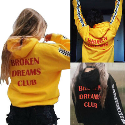 Women's Fashion Letter Print Winter Sweater Hoodie Loose Casual Hoodie PulloverW