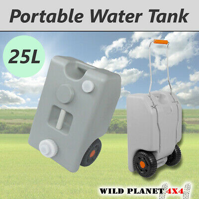 25L Portable Wheel Water Tank Grey Camping Caravan Storage Motorhome Waste Trans